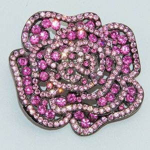 COLORFUL PINK BROOCH